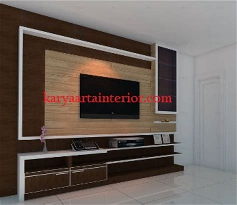 Backdrop Partisi background tv ruang keluarga mininamilis hpl karya arta interior