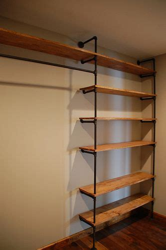Diy Closet Shelves Wood by Best 25 Pipe Closet Ideas On