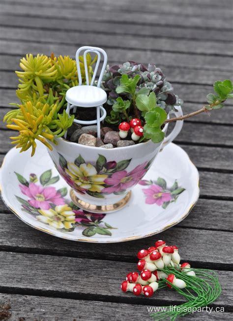 teacup fairy garden life is a party