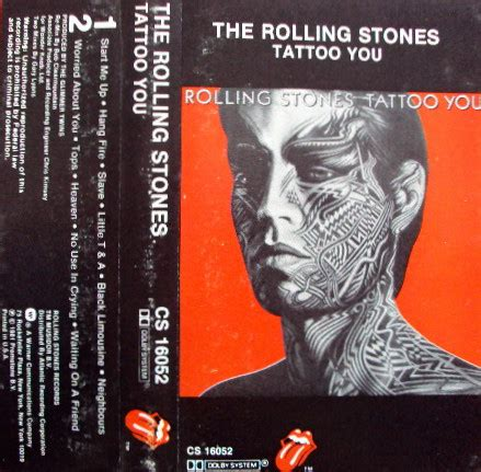 tattoo you rolling stone the rolling stones tattoo you cassette album at discogs
