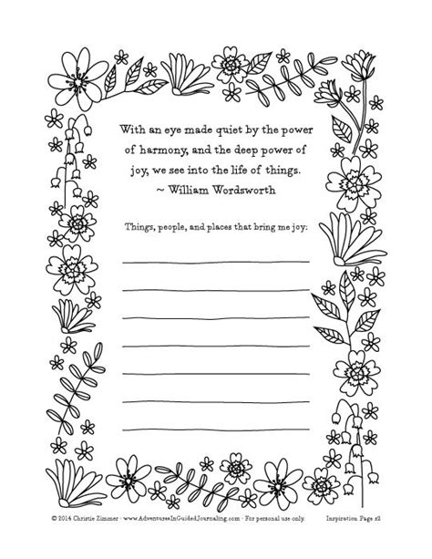printable gratitude journal pages adventures in guided journaling springtime doodles part