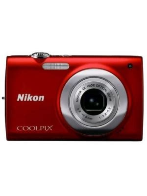 nikon coolpix s2500 point & shoot camera(red) price in