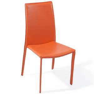 modern orange upholstered noah dining chair zuri furniture