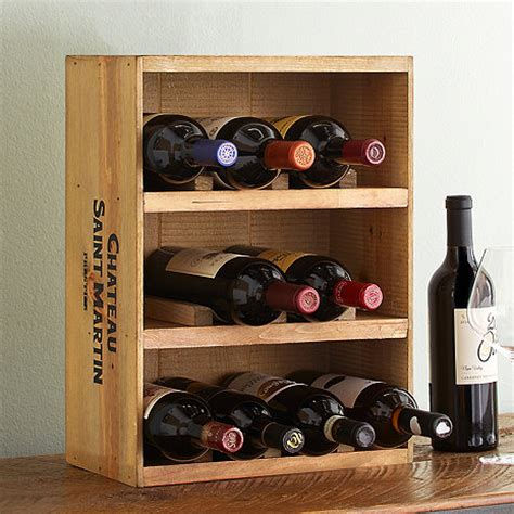 12 bottle wine crate rack wine enthusiast