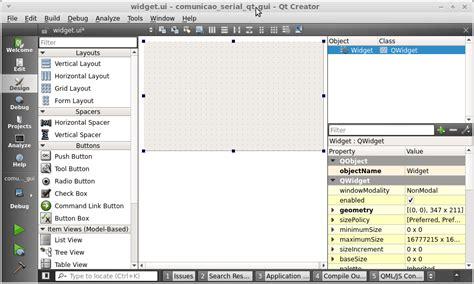 qt5 designer layout comunica 231 227 o serial com arduino e qt5 widgets embarcados