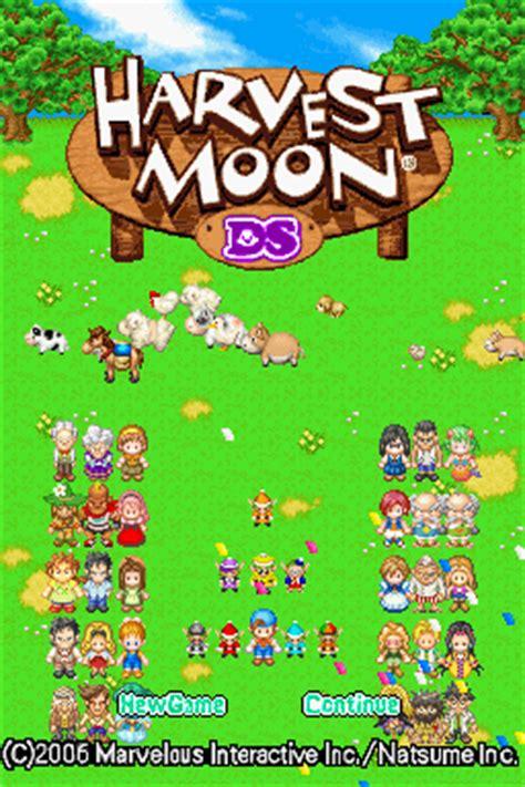 emuparadise harvest moon harvest moon ds u legacy rom