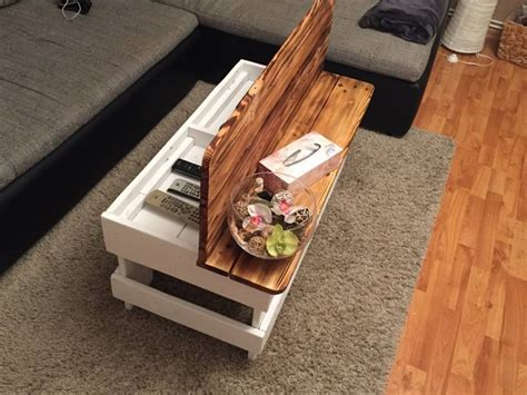 Wood Pallet Coffee Table With Storage Pallet Ideas How To Build A Coffee Table With Storage