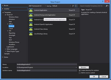 tutorial xamarin c visual studio can t seem to find mono for android in visual studio 2010