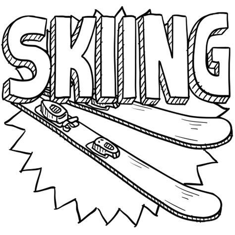 skiing coloring page kidspressmagazine com