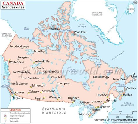 map of canada showing cities map showing major cities in canada canadacities major
