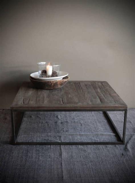 vierkante eettafel oud hout vierkante salontafel gemaakt van oud hout idee