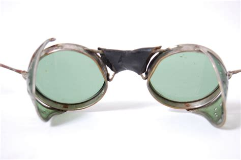 vintage motocross goggles vintage green safety glasses motorcycle goggles antique