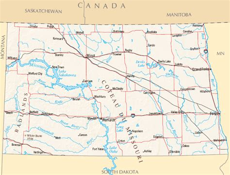 nd map dakota map map of dakota