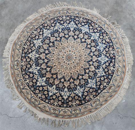 Karpet Wol rond karpet wol en zijde handgeknoopt jordaens n v