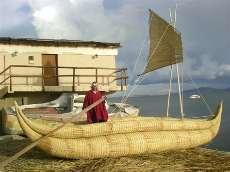 totora boats lake titicacaart and design inspiration from - Round Reed Boat