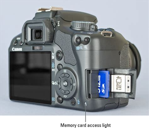 the memory card for a canon eos digital rebel xsi/450d