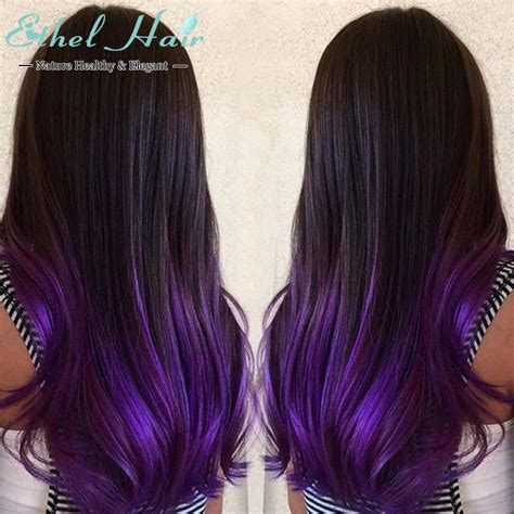 ombre hair extensions 2tone ombre hair t1b purple ombre human hair