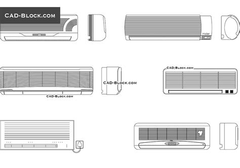 air conditioner cad block free