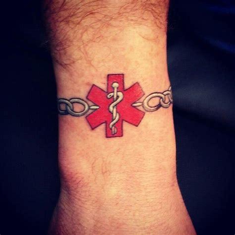 medic alert tattoo alert my husband got this today