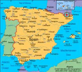 Map If Spain by Atlas Spain