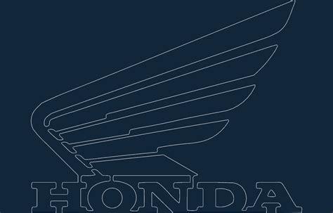 honda motorcycle wing logo dxf file   axisco