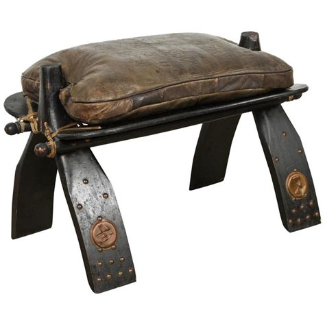 Camel Stool Cushion by Camel Saddle Seat Footstool At 1stdibs