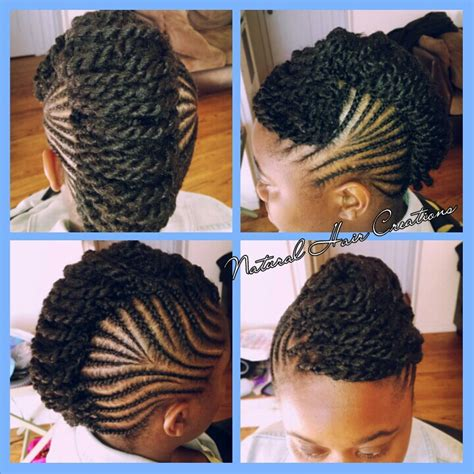 pin up for kinky twist cornrows and kinky twists in an updo natural hair black