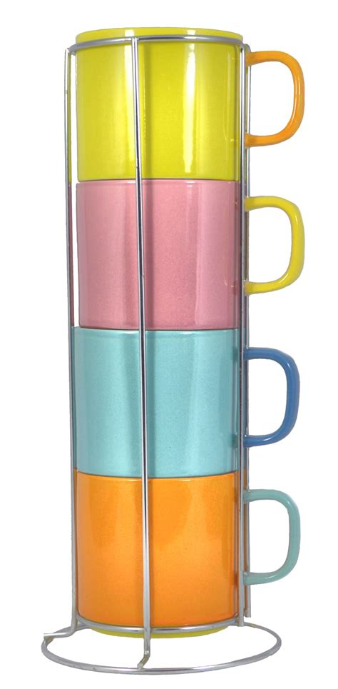 Coffee Mug Sets With Rack francois et mimi stacking mug set with rack is a must buy