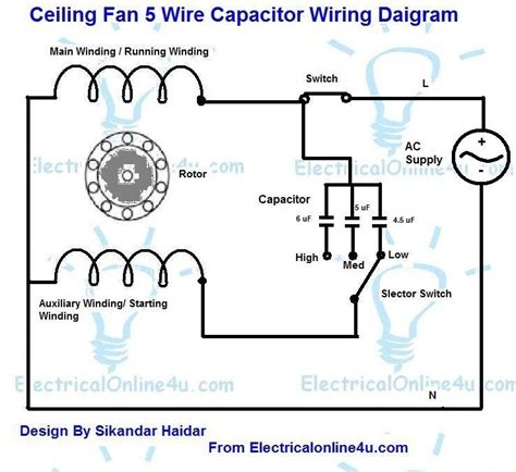 ac motor wiring and capacitor use 5 wire capacitor start motor wiring wiring diagrams