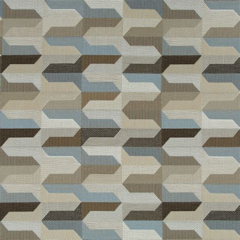 modern upholstery taupe blue geometric upholstery fabric indigo blue woven