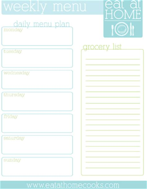 dinner menu template for home 20 free menu planner printables fab n free