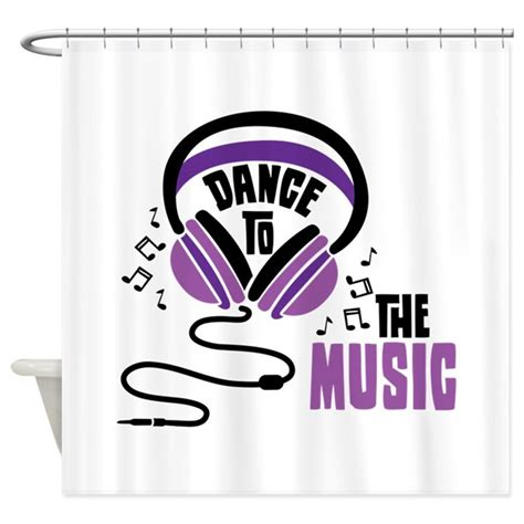 curtains soundtrack dance to the music shower curtain by hopscotch3