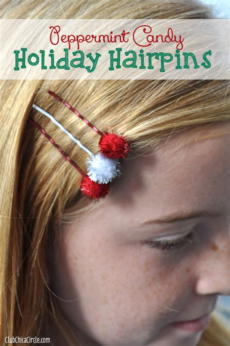 homemade holiday hairpins gift idea holiday craft lightning