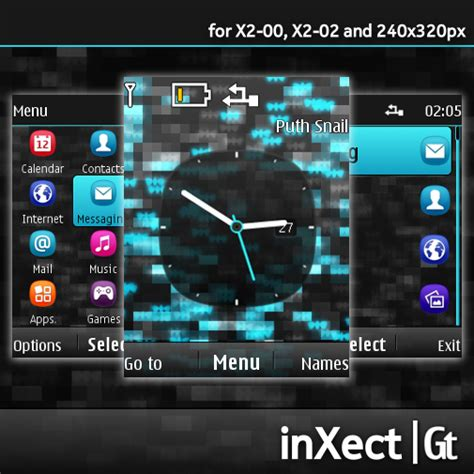 nokia x2 all themes download nokia s40 theme inxect for x2 00 x2 02 and 240 215 320 px