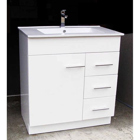 artemis wp750r 750mm polyurethane bathroom vanity unit