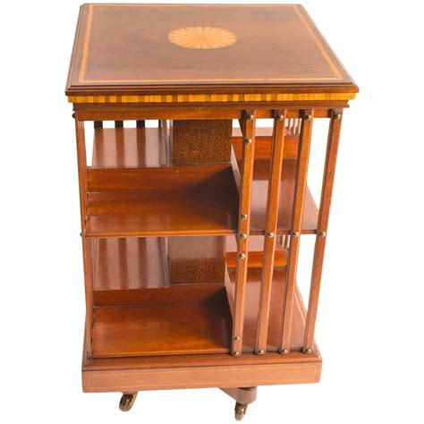 Revolving Bookcase by Antique Edwardian Revolving Bookcase C 1900 At 1stdibs