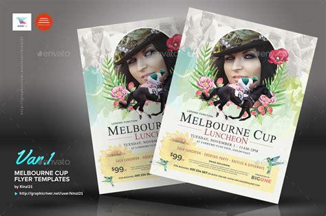 flyer design melbourne melbourne cup flyer templates by kinzi21 graphicriver