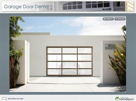 visualize a new garage with frosted glass beautiful