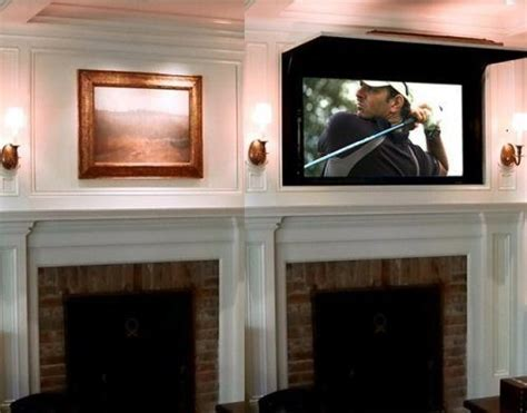 hidden tv behind picture hidden tv s pinterest