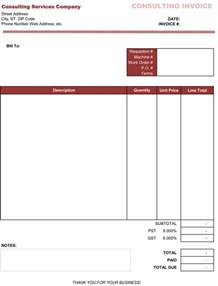 invoice template consulting consultant bill format in excel studio design