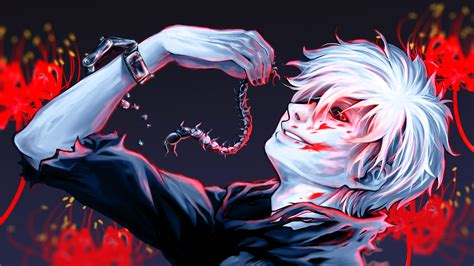 Kaneki Ken Centipede White Iphone Semua Hp tokyo ghoul hd wallpaper and background image 1920x1080 id 596590