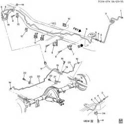 Brake Line Diagram 1999 Chevy S10 Brake Lines Rear