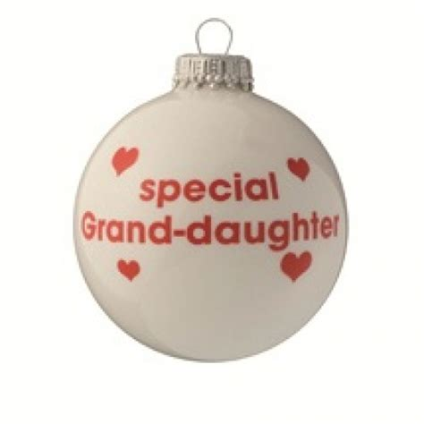 special granddaughter white christmas tree bauble