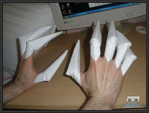 How To Make Origami Wolverine Claws - how to make claws origami