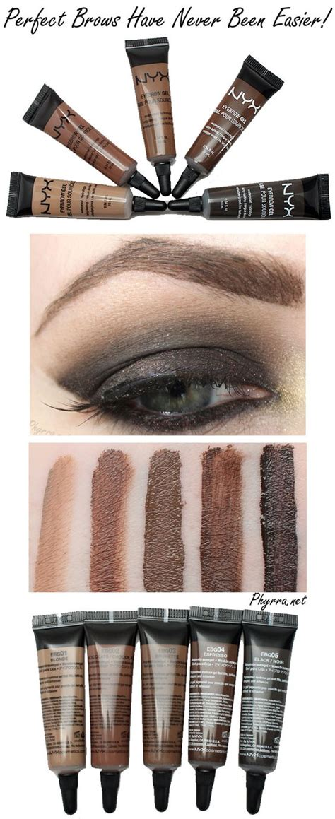Nyx Gel Eyebrow nyx eyebrow gel review and swatches eyebrows cosmetic