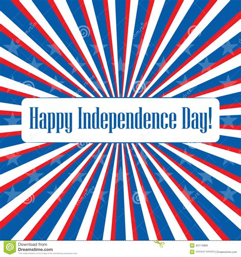 Independence Day Usa Essay by Happy Independence Day Usa Greeting Card Stock Vector Image 42114806