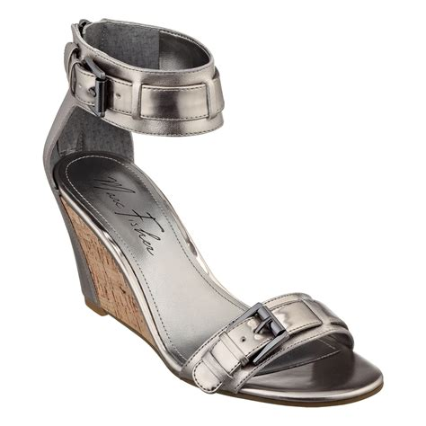 Sandal Deo 3 Marc Stuart Shoes marc fisher camron wedge sandals in silver pewter lyst