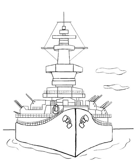 battleships free coloring pages