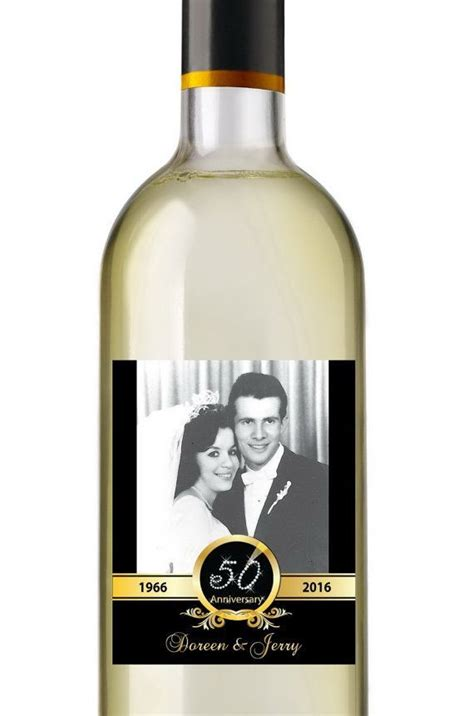 anniversary wine labels personalized photo