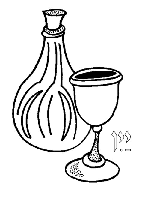 chagne glasses coloring page coloring pages